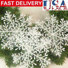 60Pcs Classic White Snowflake Ornaments Christmas Holiday Party Home Decor $ Yg