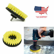 Yellow Soft Drill Brush Attachment for Cleaning Carpet, Leather, and Ppholstery