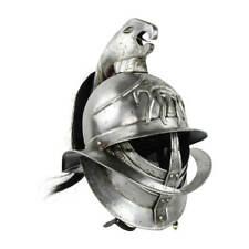 Medieval Spartacus Knight Warrior Gladiator Helmet With Plume