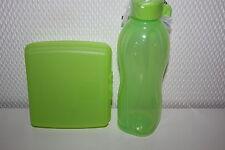 Tupperware Pause Set Eco Easy Trinkflasche 500 ml Sandwich BOX Dose grün NEU