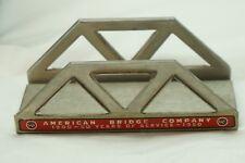 VINTAGE ADVERTISING PAPERWEIGHT AMERICAN BRIDGE CO US STEEL 1950 FIGURAL METAL
