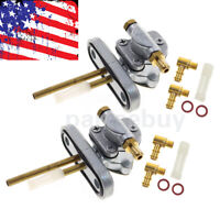 Set of 2 New Petcocks For Yamaha XS750 XS850 XS1100 Non-Vacuum Left and Right