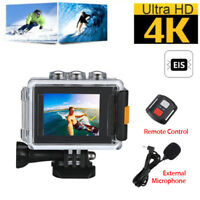 4K EIS WiFi HD 30fps Sport Action Camera DVR Waterproof with Mic/Remote Control