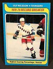 1979-80 TOPPS HOCKEY ULF NILSSON RECORD REAKER #163 NEW YORK RANGERS NMT-NMT/MT