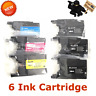 6 PACK LC 75 XL C/M/Y 3BK set of Ink Cartridges for Brother MFC-J430w MFC-J825DW