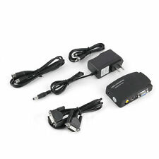 TV RCA Composite S-Video AV In To PC VGA LCD Out Converter Adapter Box US F0
