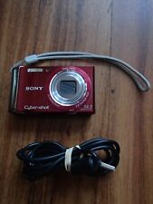 SONY DSC-W370 14.1MP red Digital Camera, battery, charger, data cable- Cost £250
