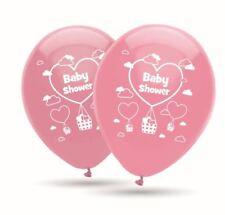 Babyshower girl Geburt rosa, 8 große Ballons 30cm Druck 2-seitig heliumgeignet