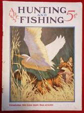 vtg April 1933 Hunting Fishing magazine trout bass salmon Winchester gun ad