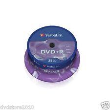25 DVD +R Verbatim 16x 4.7 gb vergini vuoti Matt Silver dvd+r 120 minuti 43500