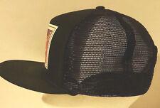 Vintage Elvis Trucker Hat 90s Stamp Black Snapback Mesh Sides Foam Lined H1