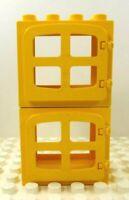 Lego Duplo Windows w/ panes (2) Yellow w/ yellow