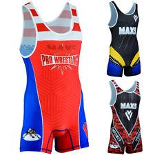 Max5 Mens Wrestling Singlet High Cut Jam Team Uniform Mma Gym Grappling Singlets