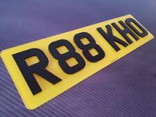 Pair 4D 3D laser cut next gen gloss Short Small 6 digit Road Legal Number Plates
