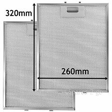 2 x Metal Mesh filter For HOOVER Cooker Hood Vent Filters 320 x 260 mm
