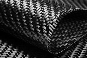 Rouleau de 50 m² de tissu CARBONE pur, sergé 200g/m², 3k .