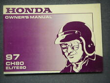 Honda CH80 Elite Scooter OEM Owners Manual 1997 CH 80 Not reprint + More