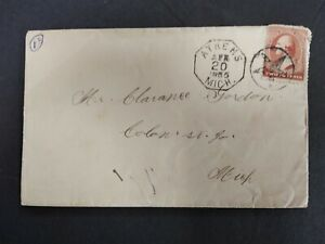 Michigan: Athens 1885 #210 Cover, Octagonal Strike, Fancy Star in Circle Cancel