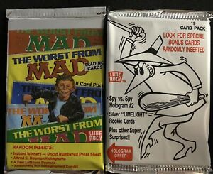 LOT OF 1992 THE WORST OF MAD CARD  PACK  AND 1993 SPY VS. SPY #2 JUMBO PACK