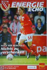 Programm 2010/11 FC Energie Cottbus - FC Ingolstadt
