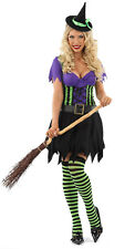 LADIES SEXY WHISTFUL WITCH FANCY DRESS HALLOWEEN OUTFIT COSTUME WOMENS