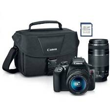 Canon EOS Rebel T6 Digital SLR Camera Kit with EF-S 18-55mm and EF 75-300mm Zoom