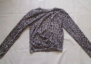 Candy Couture Silver, Black and Beige Leopard Print Sparkle Jumper Age 13 Years