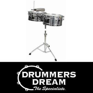 """Toca Elite Series Timbale Set 14 & 15"""" in Chrome RRP $599"""