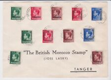 Gb Ovpt Morocco Stamps 1937 Souvenir Cover With King Edward Viii Issues