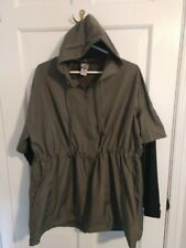 Champion women's sz Large Lightweight Hooded Windbreaker spandex sleeves!
