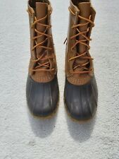Vintage LL Bean Leather Womens Bean Boots Size 6.5  Made in the USA Maine Duck
