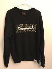 Diamond Supply Co Men Medium Sweatshirt Crewneck Logo Pullover Black