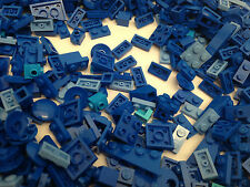 Lego - 100 Pieces / Mix Of Small BLUE Cone, Plate, Brick, Parts & Pieces - NEW