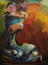 "OSMEL Fernandez Estevez 6F Original CUBAN Art Painting Signed Cuba 11.5X15.5"""