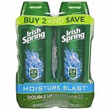 Irish Spring Moisturizing Men's Body Wash, Pack of 2 Body Wash - Moisture Blast
