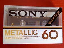 CASSETTE TAPE BLANK SEALED - 1x (one) SONY METALLIC 60 [1979-81] made in Japan