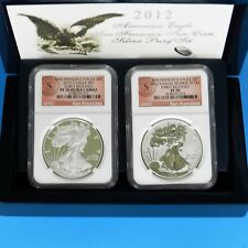 2012-S Silver Eagle 75 TH Anniversary Set PF 70 Reverse PF 70 NGC Early Releases