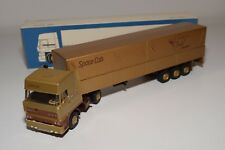 ± LION CAR DAF 3300 SPACECAB TRUCK WITH TRAILER DAF AUTOMOBIEL MUSEUM MINT BOXED
