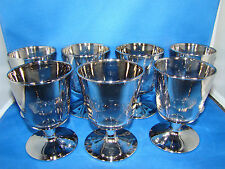 Dorothy Thorp Style Glasses Silver Fade Liquor Cocktail Stemware Set of 7 @9
