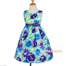Girls' Cotton Blend Casual Knee Length Dresses (2-16 Years)
