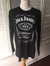 JACK DANIELS OLD NO 7 Classic 100% Cotton Black Long Sleeve T-Shirt Size L EUC