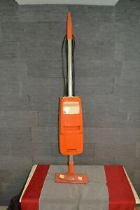 Aspirateur balais ancien orange PARIS-RHONE années 70 vintage (Fonctionne)
