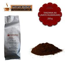 Caffè Arabica macinato fresco per espresso Tanzania AA Lavato Kilimanjaro 250 gr