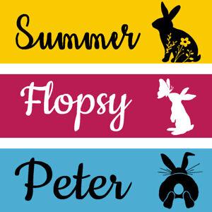 personalised rabbit hutch door plaque sign. pets