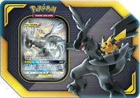 Pokemon TCG Tag Team Tin Pikachu & Zekrom GX 4 Booster Packs Sealed