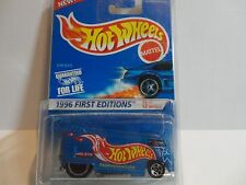 Hot Wheels #372 Blue Volkswagen Drag Bus First Edition in Protecto
