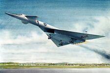 XB-70/XB-70A Flugzeug Start Lackieren 12x18 Silber Halogenlampe Fotodruck