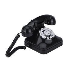 Retro Analog Festnetztelefon / Tischtelefon mit Wählscheibe weiß