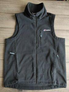 Men's Berghaus Black Fleece Outdoor Waistcoat Gilet Size L