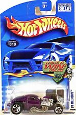 Hot Wheels 019 1/4 Mile Coupe, 2003 First Editions 7/42 Variant Race & Win, Mint